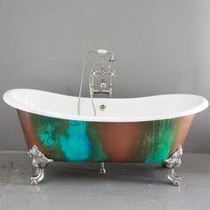 "The Lanercost 73"" Cast Iron Slight Slipper Bateau Tub Package from Penhaglion traditional-bathtubs"