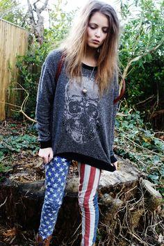 Skulls & the American Flag.... my 2 favorite things!
