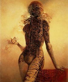 Zdzislaw Beksinski - Pinturas y obsesiones [Arte] - La Lechuza - Taringa! Arte Horror, Horror Art, Art Macabre, Art Visionnaire, Art Noir, Arte Obscura, Creepy Art, Illustration, Surreal Art