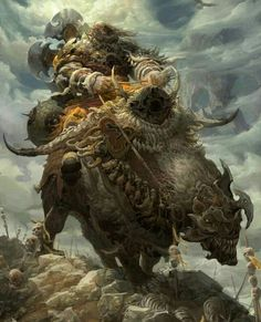 From China we have the astonishing fantasy and science fiction themed illustrations and paintings of Fenghua Zhong. High Fantasy, Medieval Fantasy, Design Spartan, Fantasy Kunst, Fantasy Warrior, Fantasy Illustration, Fantastic Art, Fantasy Artwork, Creature Design