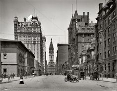 Broad Street North from Spruce, Philadelphia 1905