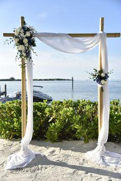 Ideas Wedding Flowers Blue Silver White Roses For 2019 Wedding Ceremony Ideas, Beach Wedding Reception, Beach Wedding Flowers, Wedding Blue, Wedding Arches, Beach Ceremony, Beach Weddings, Spring Wedding, Dream Wedding