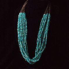 Heishi & Turquoise Pebble 10-Strand Necklace - Native American Artisans - National Cowboy Museum