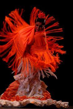 Flamenco: EVA YERBABUENA, manton, bata de cola