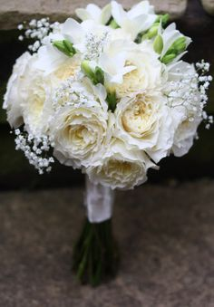 summer wedding boquet | White Wedding Flowers ~ English David Austin Roses & Hydrangeas At ...