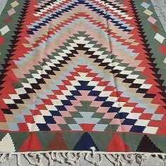 Anatolia-Turkish-Classic-Kilim-113-3-034-x-77-1-034-Area-Rug-Kelim-Carpet-Kelim-Green
