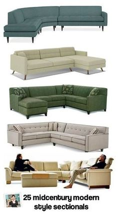 28 places to shop for an affordable midcentury modern style sofa - Retro Renovation Mid Century Modern Sofa, Mid Century Modern Furniture, Mid Century Sectional, Contemporary Furniture, Midcentury Modern, U Couch, Home Furniture, Furniture Design, Modular Furniture