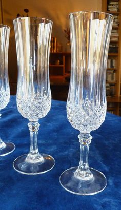 A pair of vintage French Cristal d'Arques by Frenchidyll on Etsy