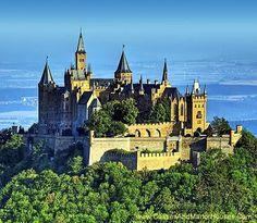 Hohenzollern Castle, c 50 kilometers south of Stuttgart, Germany