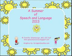 Summer articulation and language calendars.