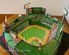 Boston Red Sox Fenway Park Wedding Cake (View #1)