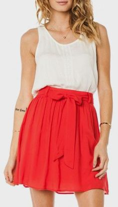 Powell Skirt in Red