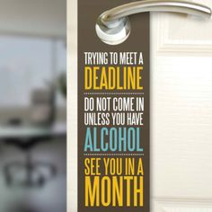can we please make door hangers like this, but like, not alcohol but chocolate.... #semiyb