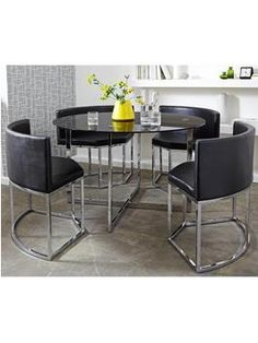 hideaway dining set uk. circular metal hideaway dining table and chairs set from littlewoods.com. like a transformer uk k
