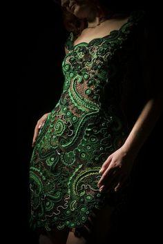 Green lace dress, by Design Aloxa.