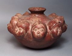 #Precolumbian  --  Anthropomorphic Vessel  --  200 BCE-500 CE  --  Mexico  --  Ceramic  --  LACMA
