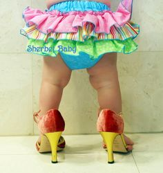 Oh my! If Hay still had these little biscuits, we would so have these!  *Sassy Pants Ruffle Diaper Cover Panty Candy Shop