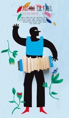 L'Agenda culturel - Communauté de communes de la Bretagne romantique - Design graphique Stéphanie Triballier