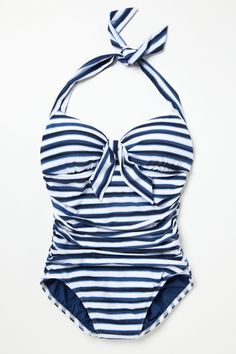 Sailor-Striped Maillot - Anthropologie.com