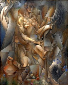 """lyghtmylife: """" Jean Metzinger [French Cubist Painter, Woman with a Horse (La Femme au Cheval), Oil on canvas 162 x 130 cm Statens Museum for Kunst, National Gallery of Denmark,. Pablo Picasso, Picasso And Braque, Cubist Paintings, Cubist Art, Oil Canvas, Canvas Prints, Art Prints, Georges Braque, History Of Modern Art"""