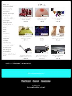 Check out this GoDaddy-powerede newsletter News Sites, Check, Shopping
