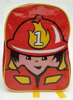 jongens rugtas brandweerman