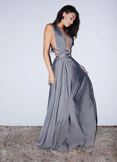 Cristal Grey Multiway Dress