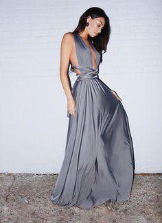 Cristal Grey Multiway Dress