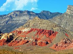 See this as an acrylic print Click on the image.    Red Rocks is along the east side of the Spring Mountains in Nevada - one of the ranges of hills that surround Las Vegas in most directions.
