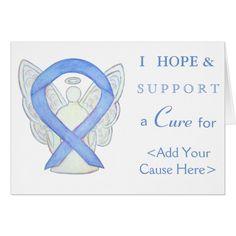 Periwinkle Awareness Ribbon Angel Greeting Card