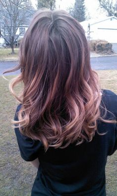 Blonde, Brown & Pink Ombrè hair!