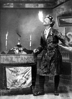 Sig Molitamo, Cuban Wonder Fire Eater with 1891 season of a Wild West medicine show.