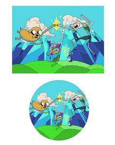 Adventure Time Edible Cake Image