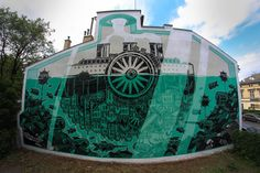 Artist : M-City. Place : Krakow, Poland. #streetart, #graffiti, #urban.