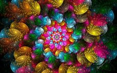 """According to Wikipedia, """"Hyperboles are exaggerations used to create emphasis or effect."""" I hope this fractal star spiral has an effect on the viewer. This Apo creation was inspired by Apo Challeng..."""