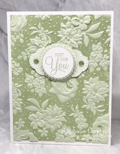 Country Floral Dear Doily Ink the Embossing Folder - 9 Tarjetas Stampin Up, Anna Griffin Cards, Card Making Techniques, Embossing Techniques, Embossed Cards, Stamping Up Cards, Cards For Friends, Pretty Cards, Sympathy Cards