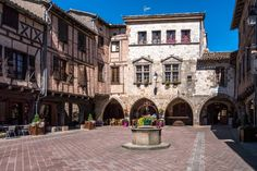 Castelnau-de-Montmiral and the Forest Grésigne. This beautiful village is adjacent to the town of Gaillac, and worth the trip to enjoy a romantic moment in the halls of Place des Arcades (pictured). Castelnau-de-Montmiral testimonies the stone houses and surrounded by timbered remains of walls and the beautiful fortified gates. A place not to be missed. © Pictures news - Fotolia.com