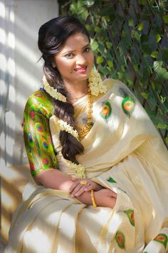 Kerala saree                                                                                                                                                                                 Más