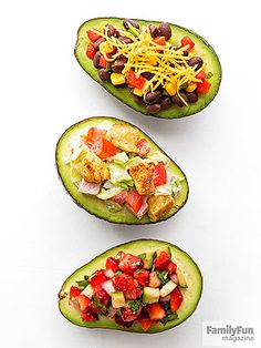 The Right Stuff: Serve up a treat for two that's packed with heart-healthy fiber and other good-for-you nutrients. Simply halve and pit an avocado, then divide one of our fillings (Black Bean Salad, Lightened-Up BLT, or Strawberry Salsa) between the portions.