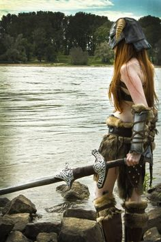Skyrim cosplay! Studded armour, iron helmet, nord great sword. It's as I know what all of that is.