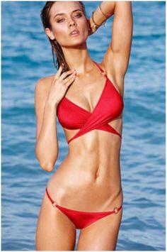 $11.95 Red Wrap Halter Top Panty Bikini Swimsuit
