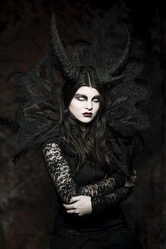 darkbeautymag:  Photographer: Michał Ashir OlszewskiDesigner: Justyna Waraczyńska-VarmaMakeup: Agnieszka Szumska - Vanity Overdose MakeupModel: Martyna Więcka