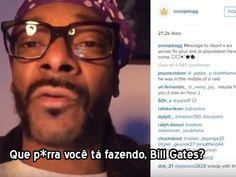 O rapper norte-americano Snoop Dogg postou em sua conta no Instagram um vídeo xingando a Microsoft por falhas de conexão no console Xbox One para jogar online.