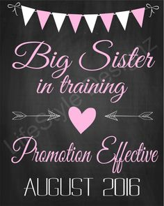 Big Sister In Training, Pregnancy Announcement, Maternity Announcement, Maternity Photo Prop