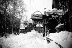 Fulton Street, 1888 #refinery29 http://www.refinery29.com/2015/03/81296/worst-blizzards-nyc#slide-2