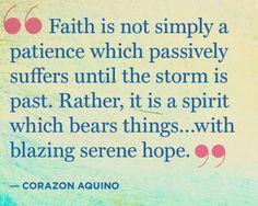 Good Faith is a necessity