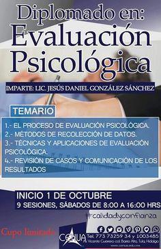 Diplomado en Evaluación Psicológica en #cenua Inicio 1 de octubre