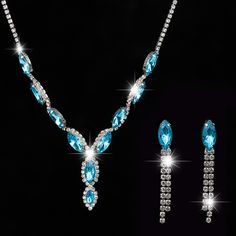 Luxo conjuntos de jóias de noiva. Silver áustria brincos de cristal colares e pingentes conjuntos de jóias para mulheres acessórios do casamento em Tintas de impressão de Jóias no AliExpress.com | Alibaba Group