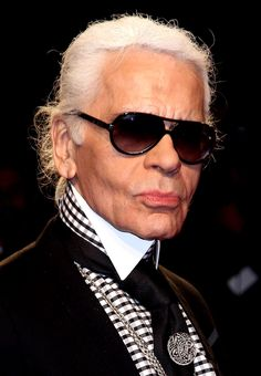 Karl Lagerfeld, the greatest man in fashion...