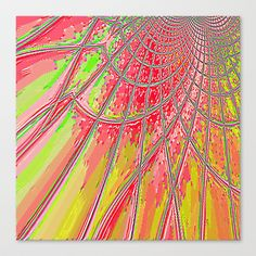 Re-Created Web of Lies6 #Stretched #Canvas by #Robert #S. #Lee - $85.00